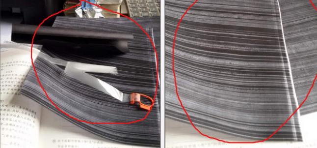 怎样解决HP M126激光打印机更换新硒鼓后,打印出来整张黑块不良现象?