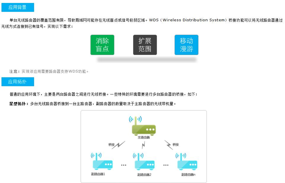 TP-LINK无线路由器WDS功能应用方法